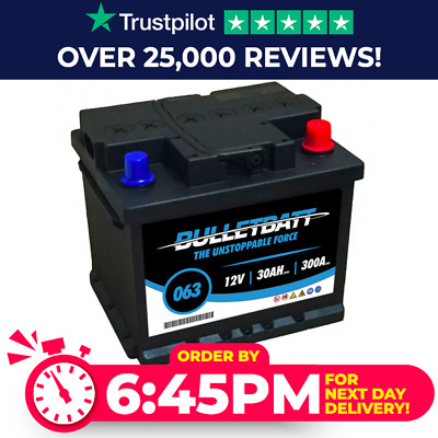 BulletBatt 063 Car Battery - Maintenance Free - 4 Years Warranty
