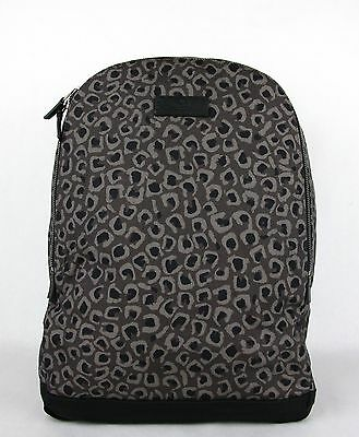 40a50123648 Gucci Dark Gray Brown Leopard Print Canvas Backpack Luggage Bag 353476 1186