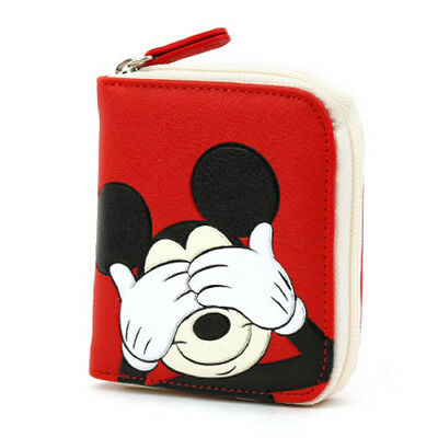 Disney mickey mouse business card holder red box 3833 picclick uk disney mickey mouse red small wallet purse business credit id card coin money colourmoves