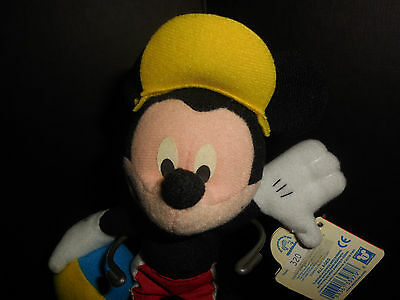 "Vintage  Applause Mickey Mouse Summer Beanbag 7"" Tall  Euc"