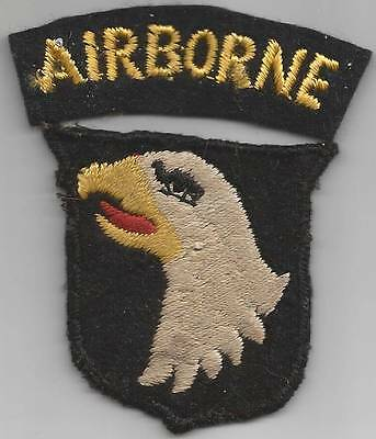 British Made WW 2 US Army 101st Airborne Division Patch & Tab Inv# F726
