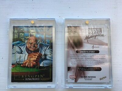 2016 Marvel Masterpieces Joe Jusko Autograph Buyback Gold #/15 Kingpin Auto 1992