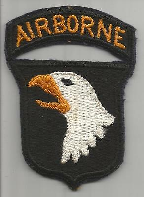 No Tongue WW 2 US Army 101st Airborne Division Patch with attached tab Inv# K353