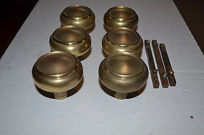 Lot Of  Antique Vintage Arts and Crafts Brass Matching Door Knobs 1920 / 1930s