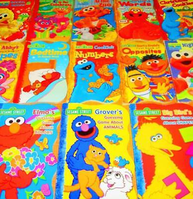 SESAME STREET Board Book Lot of 17 -Elmo, Grover, Numbers, Colors, Opposites, Sh
