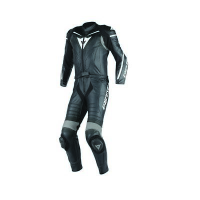 Dainese Laguna Seca D1 2-pc Mens Leather Motorcycle Suit Black/Anthracite
