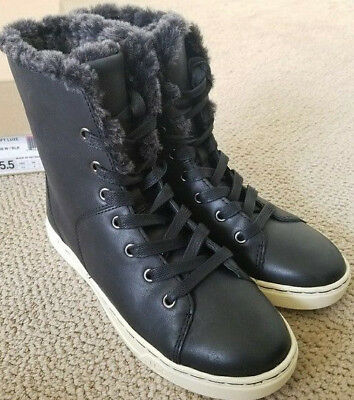 1af1dbf3a4c UGG AUSTRALIA WOMEN'S Croft Luxe Quilt Fur Sneakers Ankle Leather ...