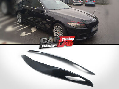 (2) Unpainted Eyelid Eyebrows Headlight Cover For 2010-Up BMW F10 F11 M5 Tuning