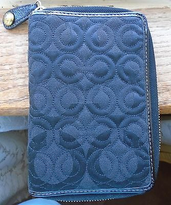 Coach Black Quilted Planner / Organizer / Address Book   Sale Limited Time