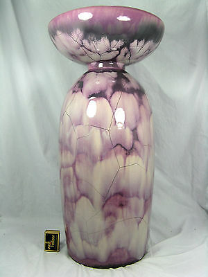 Stunning & well shaped  70´s Otto Gerharz design Otto Keramik  floor vase  56 cm