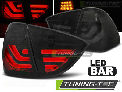 Coppia Fari fanali Posteriori Tuning BMW E91 2005 > 2008 Fumè LED BAR TOURING