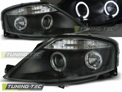 Coppia Set Fari Fanali anterior Tuning CITROEN C3 03.2002 > 2009 ANGEL EYES Neri