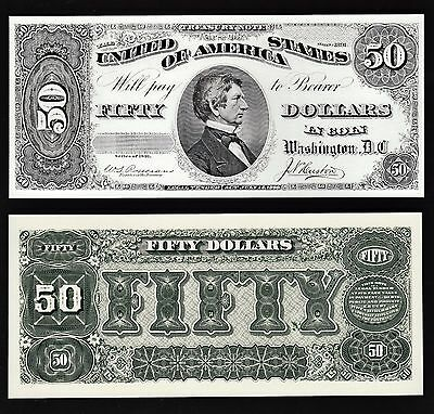 2 BEP Proof Prints or Intaglio Impressions - Face & Back of 1891 $50 Treasury