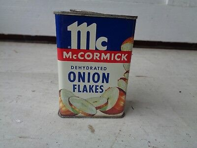 Vintage Mccormick Onion Flakes Spice Tin Can Kitchen Advertising Graphic Sign