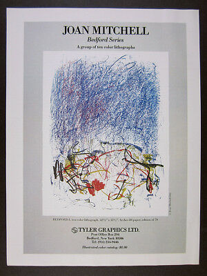 1981 Joan Mitchell Bedford Series lithographs Tyler Graphics vintage print Ad