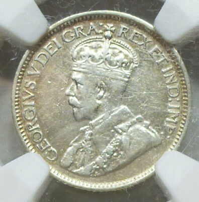 Canada 10 Cents 1913 Broad Leaves XF 40 NGC
