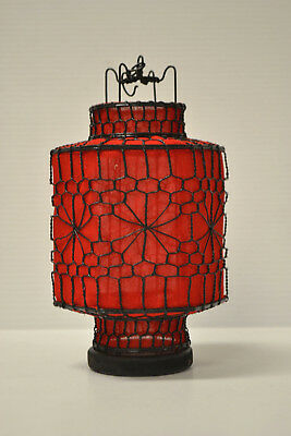 Asian Chinese Red Fabric hexagon Lantern Feng Shui Home Decor Party Gift