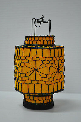 Asian Chinese yellow Fabric hexagon Lantern Feng Shui Home Decor Party Gift