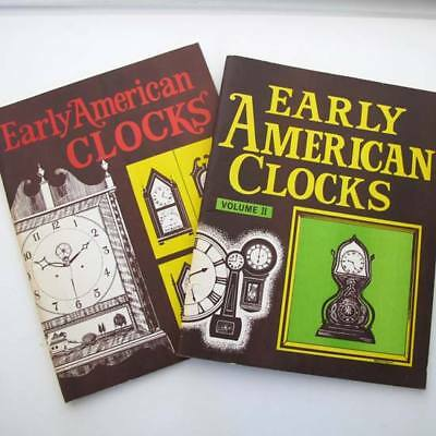 Early American Clocks Volume 1 & 2 - Essays edited by D. Maust 1971 & 1973