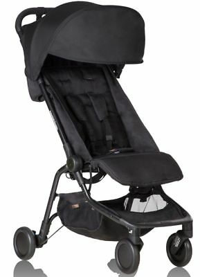 Mountain Buggy Nano V2 Lightweight Compact Fold Baby Travel Stroller Black NEW