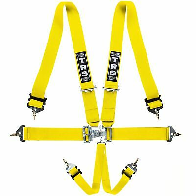 TRS Nascar Autograss Stock Car Race Racing 5 Point Harness In Yellow