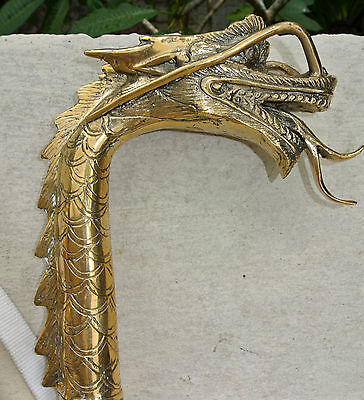 DRAGON head WALKING STICK end handle only carved solid brass hand made amazing