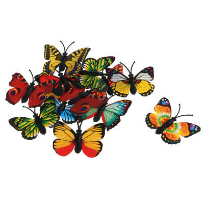 12 Pieces Lifelike Insects Figurines Butterfly Model Science & Nature Toy