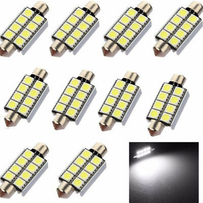 10Stk LED Soffitte Canbus 42mm 5050 8 SMD c5w weiß Auto Innenraum Beleuchtung
