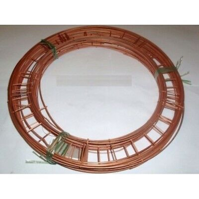 "Flat Wire Wreath Ring Frames - 8"" 10"" 12"" 14"" 16""  Christmas Moss Holly Memorial"
