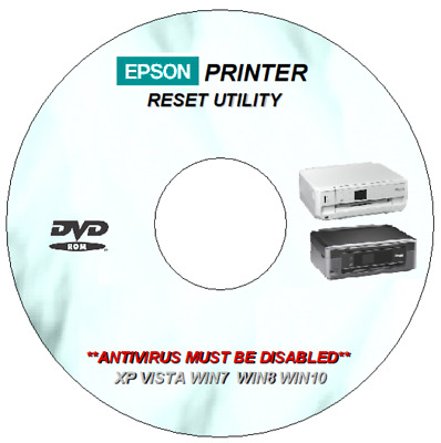 EPSON PX720WD WASTE Ink Error Counter Pad Reset Repair Cd Dvd For