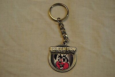 Green Day Awesome As F**k Bunny Cross Eyes Metal Keychain Keyring New Official