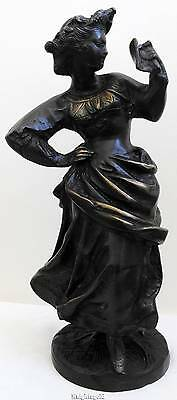 Bronze Sculpture Statue Woman Book Bible Rancoulet Large 33 cm / 13