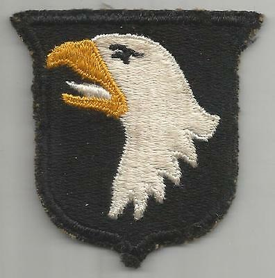 White Tongue WW 2 US Army 101st Airborne Division Greenback Patch Inv# K388