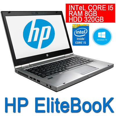 "Pc Portatile Hp Elitebook 8470P Ricondizionato Core I5 14"" Usb 3.0 Ram 8Gb Win10"