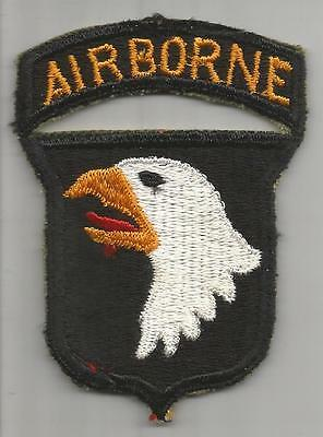 WW 2 US Army 101st Airborne Division Patch With Attached Tab Inv# K350