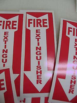 5 ARROW FIRE EXTINGUISHER Sticker Decals Inspection or Hose Alarm Smoke FDC