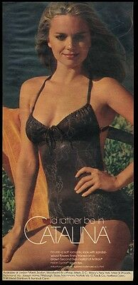 1978 Catalina flower pattern one piece woman swimsuit photo vintage print ad