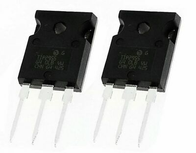 2 x TIP2955 PNP Bipolar Power Transistor 15A 60V 90W TO-218 Audio Amp Power Supp