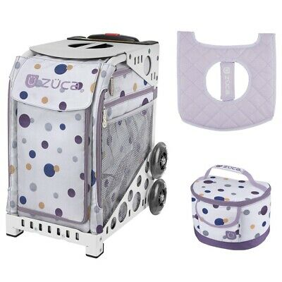 d74d84ef0152 ZUCA SPORT BAG - Confetti with Gift Lunchbox and Seat Cover (White Frame)