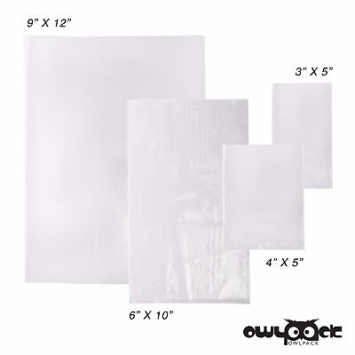 Multi Pack 3x5 4x5 6x10 9x12 1.5 mil Owlpack Poly Open End Bag -100 each size