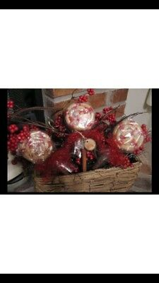 Primitive Lollipop Lollies Set of 3 Christmas Decor Sweet Candy YUM Wrapped