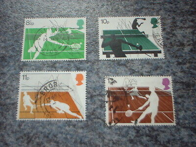 Gb Stamps 1977, Racket Sports. Used Set Of Stamps ++Post Free++