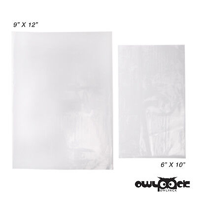 Multi Pack 6x10 9x12 1.5 mil Owlpack Poly Open End Plastic Bag -100 each size