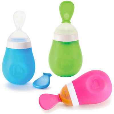 Baby Toddler Squeeze Spoon Weaning Feeding Squirt Munchkin
