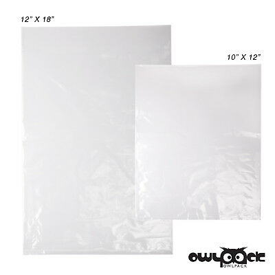 Multi Pack 10x12 12x18 2 mil Owlpack Poly Open End Plastic Bag -100 each size