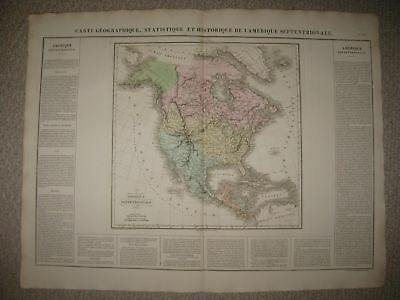 Important Antique 1825 North America United States Texas Carey & Lea Buchon Map