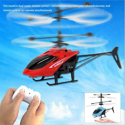 Small RC Helicopter Aircraft Radio Remote Control LED Kids Gift SS US