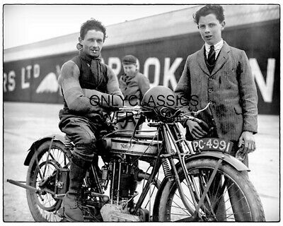 1923 Vintage Norton Motorcycle Racing Photo Racer Bert Denly Brookland Raceway