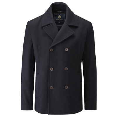 Henri Lloyd Harling Melton Pea Coat Navy Blue Various Sizes Donkey Jacket