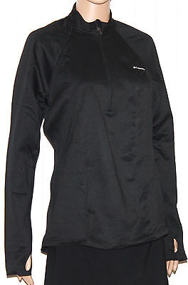 Columbia Women's Extreme Fleece LS Black ½ Zip Shirt Sz XL **